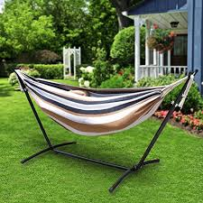 zeny double hammock with space saving steel stand includes