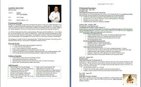 Cook Resume Examples by Chef Resume Example Chef Resume Sample Chef Resume Resume