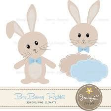 rabbit baby shower bunny rabbit digital papers boy bunny clipart setbunny