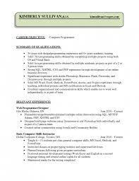 the most brilliant sample resume for computer programmer resume