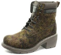 buy boots from uk caterpillar ottowa 6 green camo womens ankle boots size uk 3 eu