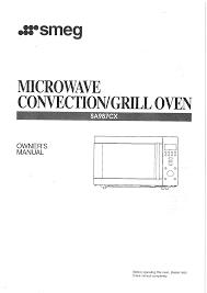 smeg microwave oven sa987cx user guide manualsonline com