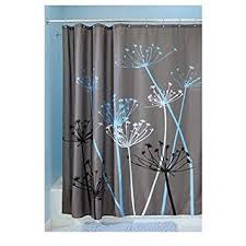 Turquoise And Grey Curtains Amazon Com Interdesign Thistle Shower Curtain U2013 Machine Washable