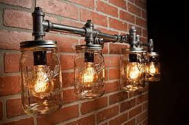 mason jar outdoor lights industrial lighting lighting mason jar light steunk