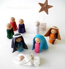 peg people nativity set wooden nativity child friendly nativity
