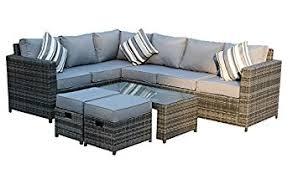 rattan corner sofa yakoe conservatory modular 8 seater rattan corner sofa set grey