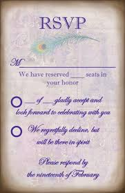 Sample Rsvp Cards Idea To Help Keep People From Adding Themselves To The Rsvp Card