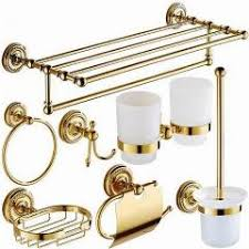 bathroom accessories brass gold finish toilet wall mount paper