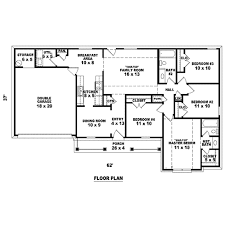 traditional style house plan 4 beds 2 00 baths 1440 sq ft plan