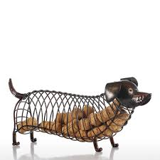 best and cheap brown tooarts dachshund wine cork container iron