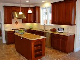 small kitchen design nyc light brown varnish counter top black