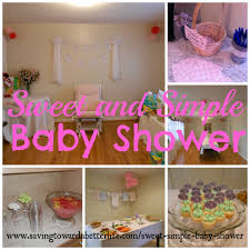 simple baby shower sweet and simple baby shower ideas saving toward a better