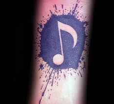 75 music note tattoos für männer auditory ink design ideen