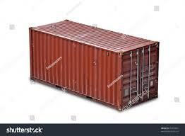 red freight shipping container isolated on stock photo 74397691