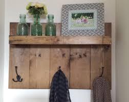 rustic coat rack coat hanger wall shelf rustic coat shelf
