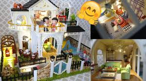 Pool Bathroom Diy Full Set Miniature Doll House With Pool Bathroom Bar Living