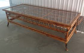 coffee table bamboo stick bunching table with glass coffee tables