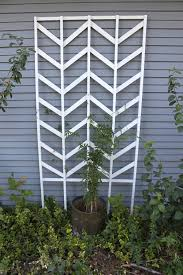 chevron trellis diy smile and wave