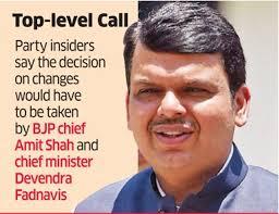Maharashtra Cabinet Ministers Maharashta Cabinet Maharashtra Bjp Plans Major Rejig In Party