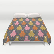 Alpaca Duvets The Alpacas Iii Duvet Cover By From Society6 Littleoddforest