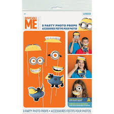 amazon com despicable me minions photo booth props 8pc toys u0026 games