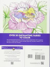 amazon com creative haven enchanted fairies coloring book