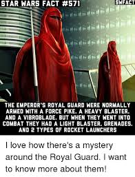 Star Wars Emperor Meme - swfact star wars fact 571 the emperor s royal guard were normally