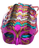 bulk mardi gras masks bulk half masks 1 dozen feather masks 12