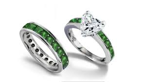 green diamonds rings images Emerald heart diamond engagement rings wedding rings jpg