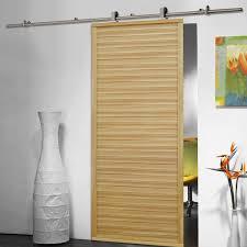 Closet Set by 6 6 Ft Modern Stainless Steel Sliding Barn Wood Door Closet