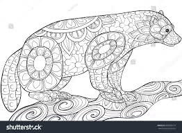 coloring bookpages animal art style stock vector 609035714