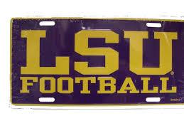 lsu alumni license plate lsu auto accessories page 5 purple and gold sports