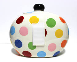 coton colors happy everything plate coton colors bright dot happy everything big cookie jar