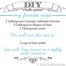 diy chalk paint recipes make chalk paint in my own style