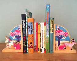 Pink Childrens Bookcase Childrens Bookends Etsy