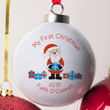 personalised bone china bauble my first christmas