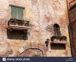 Rustic House Old Rustic House Windows With Flowers Antique Architecture In