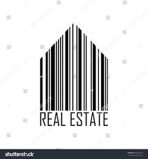 Barcode Designs For Symbol House Barcode Design Estate Stock Vector 746581810