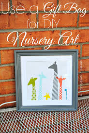 Diy Nursery Decor Pinterest by Serenity Now Nursery Wall Art From A Gift Bag Free Diy Nursery