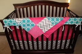 Hot Pink And Black Crib Bedding by Turquoise Crib Comforter Creative Ideas Of Baby Cribs