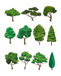 trees vector pack forest tree vector free
