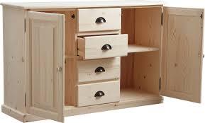 meuble cuisine a tiroir meuble bois brut 2 portes 4 tiroirs