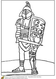 Coloriage Le Gladiateur Romain Dans LArène