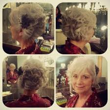 mob hair mother of the bride hair bob grey hair wedding party