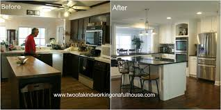 kitchen island remodel fascinating picture of before and after kitchen remodels before