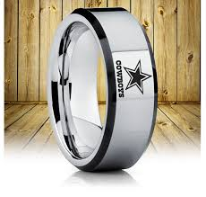 wedding rings dallas dallas cowboys tungsten wedding band dallas cowboys tungsten ring