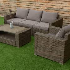 Outdoor Furniture Set 7 Pcs Patio Rattan Sectional Aluminum Frame Furniture Set
