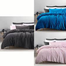 cotton velvet quilt doona duvet cover set by accessorize queen