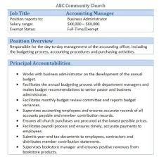 resume template administrative manager job specifications ri sle church employee job descriptions job description and churches