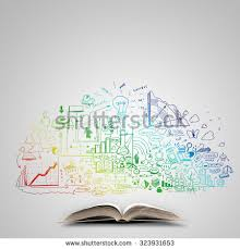 tree knowledge on book sustainable education stock photo 330406841